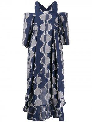 Платье-туника в полоску HENRIK VIBSKOV. Цвет: синий