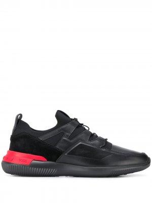 Tods кроссовки с контрастной вставкой Tod's. Цвет: черный