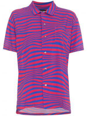Рубашка с волнистым узором Double Rainbouu. Цвет: красный