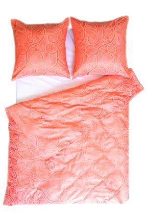 Постельное белье Евро, 4 нав. BegAl. Цвет: оранжевый