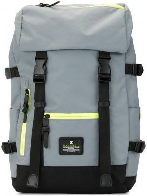 Рюкзак Jade с двумя пряжками Makavelic. Цвет: серый