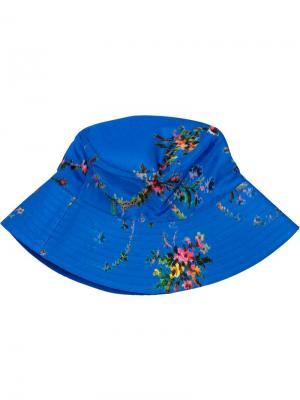 Floral print bucket hat Preen By Thornton Bregazzi. Цвет: синий