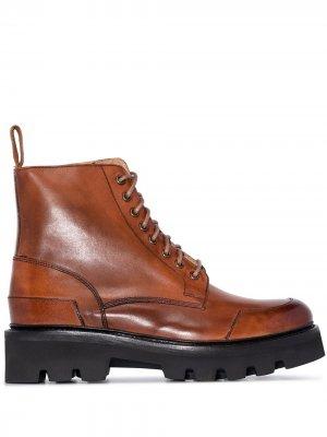 Ботинки Bessie на шнуровке Grenson. Цвет: коричневый