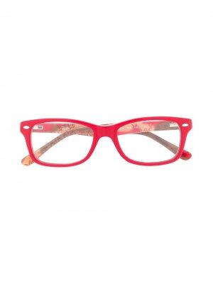 Очки в квадратной оправе RAY-BAN JUNIOR. Цвет: красный