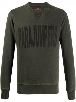 Джемпер с логотипом Parajumpers. Цвет: зеленый
