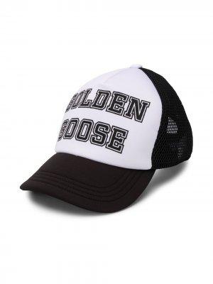 Бейсбольная кепка с логотипом Golden Goose Kids. Цвет: черный