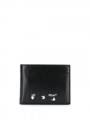 Бумажник с логотипом Off-White. Цвет: черный