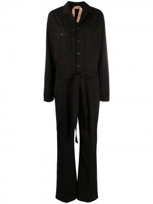 Комбинезон с длинными рукавами и поясом Nº21. Цвет: черный
