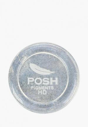Тени для век Posh. Цвет: серебряный