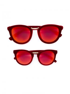 Комплект солнцезащитных очков Monnalisa. Цвет: красный
