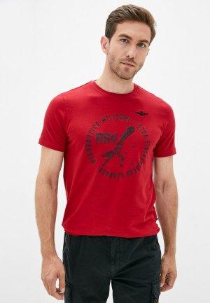 Футболка Aeronautica Militare. Цвет: красный
