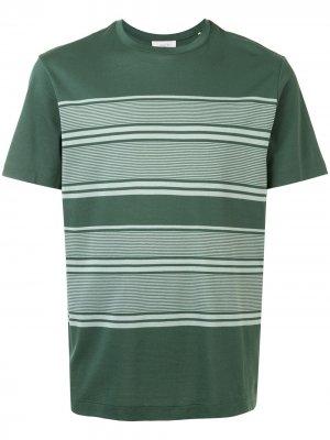 Полосатая футболка Cerruti 1881. Цвет: зеленый
