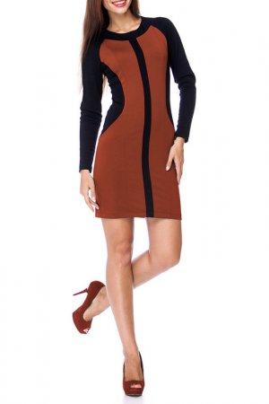 Платье BERENIS. Цвет: терракотовый