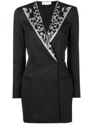 Вечернее платье-блейзер Genny. Цвет: черный
