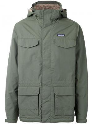 Куртка Isthmus в военном стиле Patagonia. Цвет: зелёный