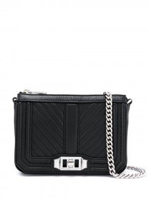Стеганая сумка на плечо Love Rebecca Minkoff. Цвет: черный