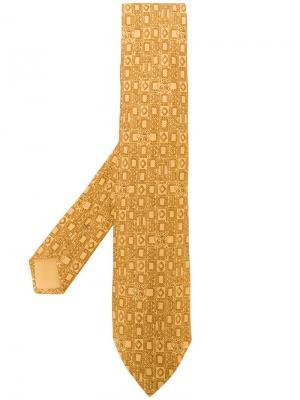 Галстук с принтом Hermès Vintage. Цвет: желтый