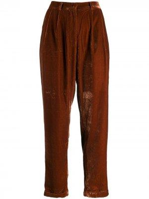 Укороченные фактурные брюки Mes Demoiselles. Цвет: оранжевый