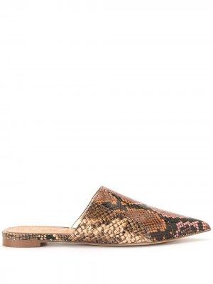 Мюли Seena со змеиным принтом Sam Edelman. Цвет: коричневый