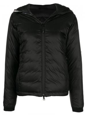 Hooded puffer jacket Canada Goose. Цвет: черный