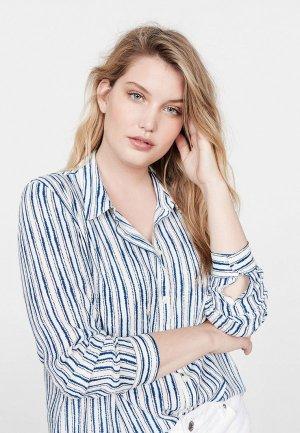 Рубашка Violeta by Mango. Цвет: синий