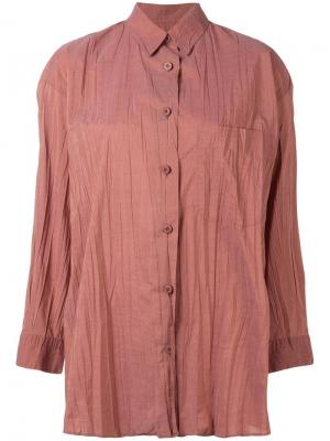 Плиссированная рубашка Issey Miyake Pre-Owned. Цвет: оранжевый