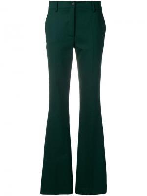 Расклешенные брюки P.A.R.O.S.H.. Цвет: зеленый