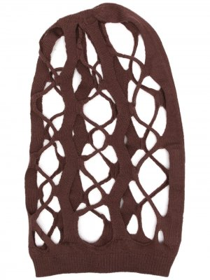 Кашемировая вязаная шапка Rick Owens. Цвет: коричневый