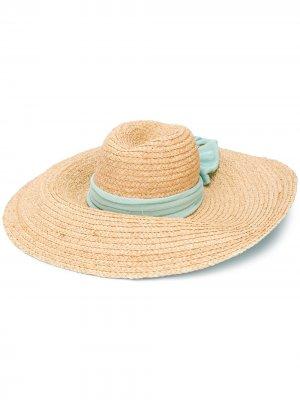 Шляпа-федора с бантом Antonella Rizza. Цвет: нейтральные цвета