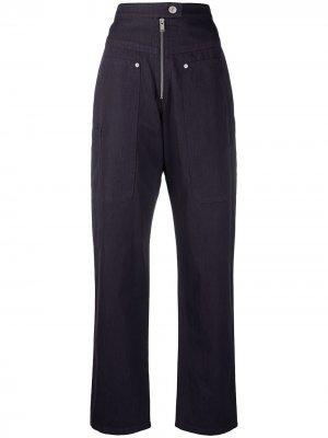 Прямые брюки с завышенной талией Isabel Marant Étoile. Цвет: фиолетовый