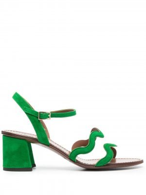 LAutre Chose босоножки с волнистыми ремешками L'Autre. Цвет: зеленый