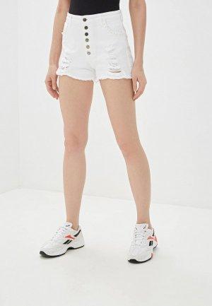 Шорты джинсовые J.B4. Цвет: белый