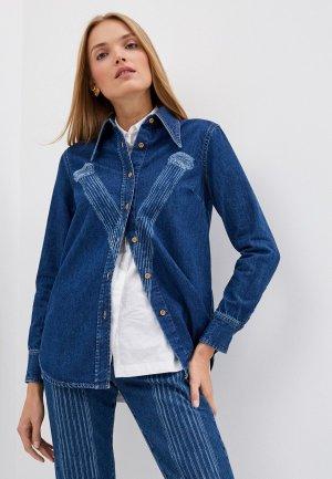 Рубашка джинсовая Vivienne Westwood. Цвет: синий