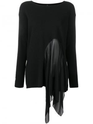 Asymmetric knitted top Pierantoniogaspari. Цвет: черный