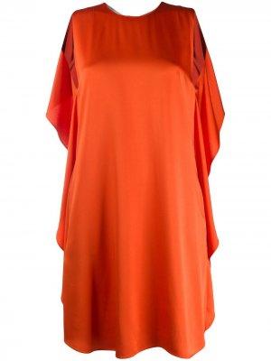 Короткое платье с оборками Stella McCartney. Цвет: оранжевый