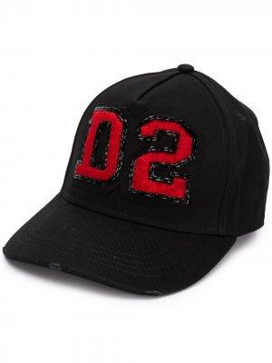 Кепка с нашивкой-логотипом D2 Dsquared2. Цвет: черный