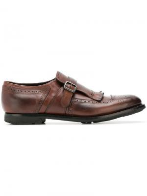 Туфли монки Church's. Цвет: коричневый