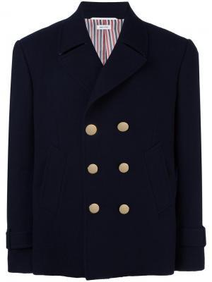 Пиджак-бушлат Thom Browne. Цвет: синий