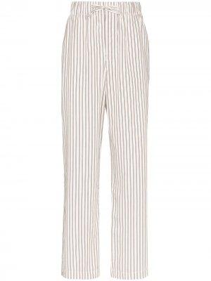 Пижамные брюки TEKLA. Цвет: белый