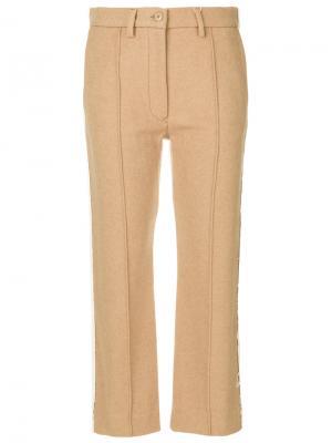 Укороченные брюки MM6 Maison Margiela. Цвет: нейтральные цвета