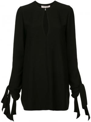 Блузка с вырезом капелькой Carolina Herrera. Цвет: черный