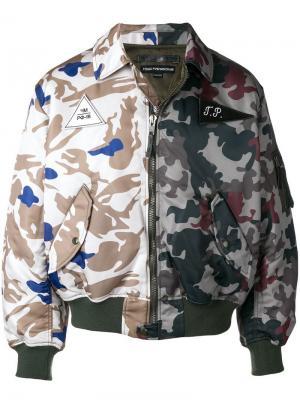 Камуфляжная куртка-бомбер Gosha Rubchinskiy. Цвет: зеленый