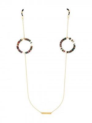 Цепочка для очков с бусинами Frame Chain. Цвет: коричневый