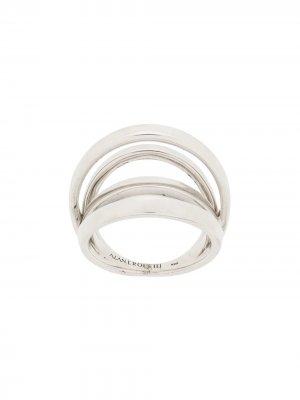 Многослойное кольцо Alan Crocetti. Цвет: серебристый