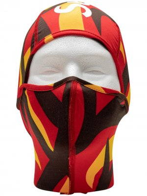 Балаклава Tribal Camo Supreme. Цвет: красный
