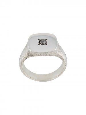 Кольцо-перстень Henson. Цвет: серебристый
