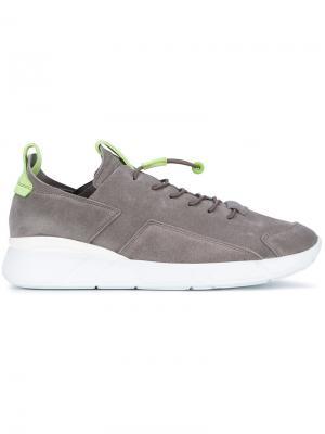Кроссовки на эластичной шнуровке Enso. Цвет: серый