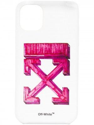 Чехол для iPhone 11 с логотипом Arrows Off-White. Цвет: белый