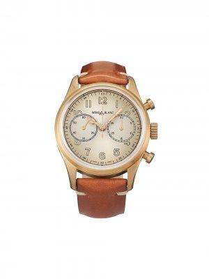 Наручные часы 1858 Automatic Chronograph pre-owned 42 мм 2020-го года Montblanc. Цвет: золотистый