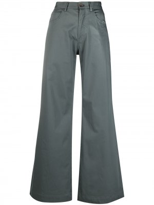 Расклешенные брюки широкого кроя Société Anonyme. Цвет: серый